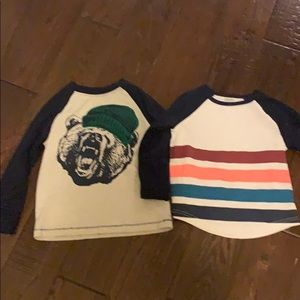 Bundle of two Gymboree long sleeve tees